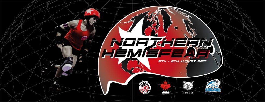 Northern HemisFear tournament graphic, England Roller Derby
