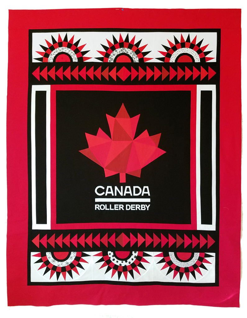 Twin-size quilt by MamaWOW signed by 2018 Team Canada Women